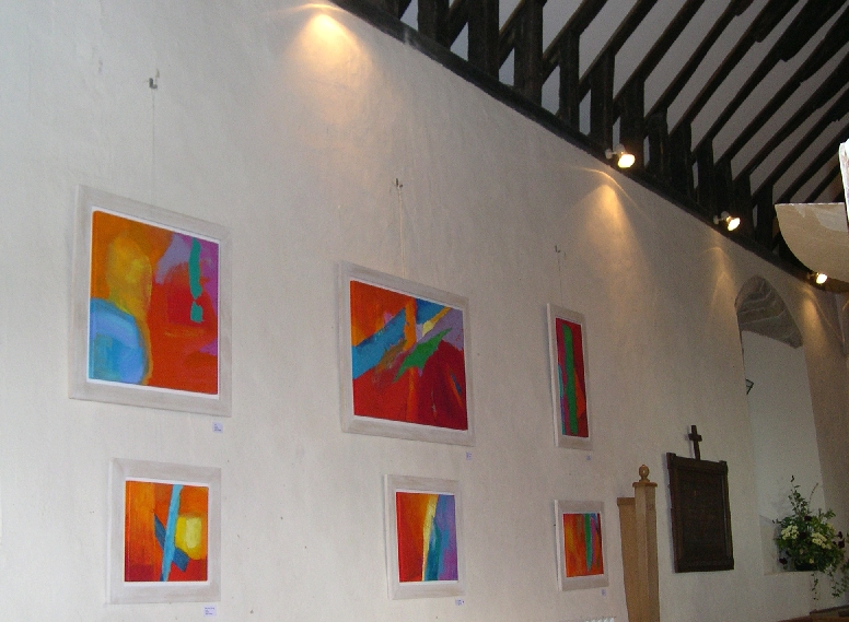 Stella Hidden's work at Mansell Lacy Church, Herefordshire